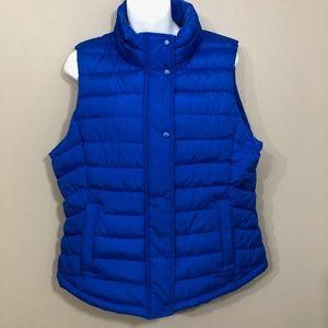 Gap Royal Blue Puffer Vest NWT sz L